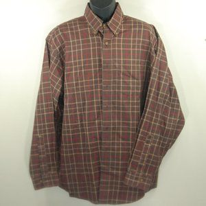 Brooks Brothers No Iron Brown Plaid LS